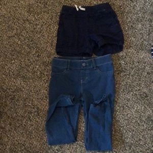 Girls jeans and shorts